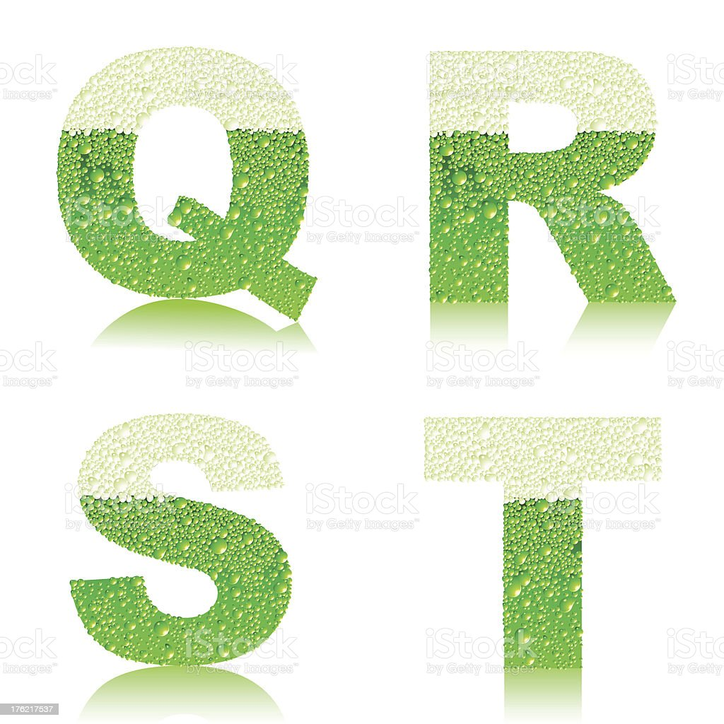 Set of green beer letters royalty-free stock vector art