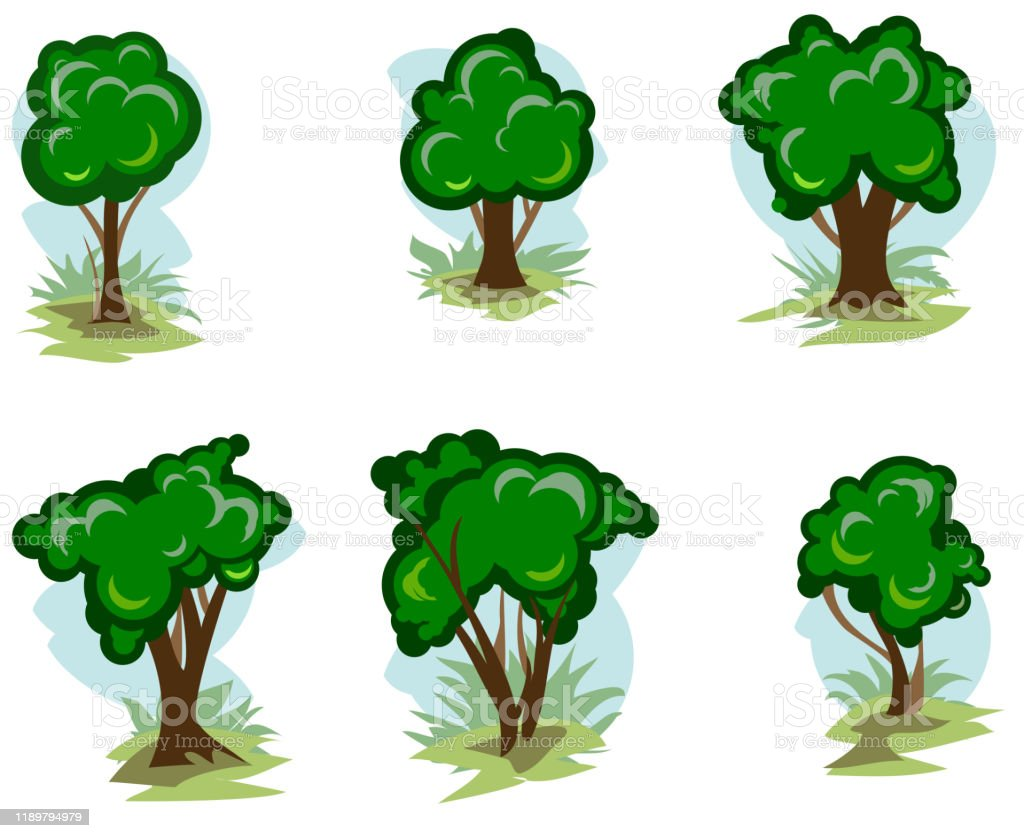 Set Of Green Deciduous Trees In Cartoon Style Vector Illustration Young Trees And Bushes In The Summer Collection Deciduous Trees Abstraction Concept Grass Trunks And Branches Isolated Stock Illustration Download Image Tree young adults, new braunfels, texas. set of green deciduous trees in cartoon style vector illustration young trees and bushes in the summer collection deciduous trees abstraction concept grass trunks and branches isolated stock illustration download image