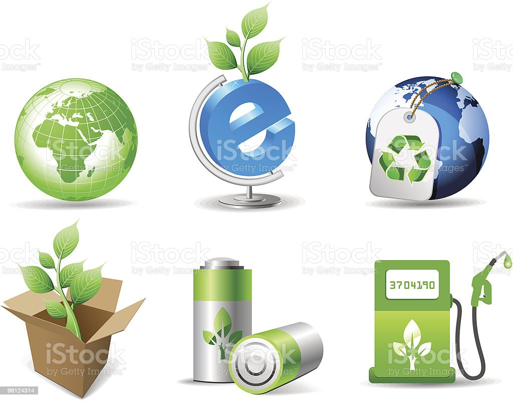 Set of green environmental icons. royalty-free set of green environmental icons stock vector art & more images of alternative energy