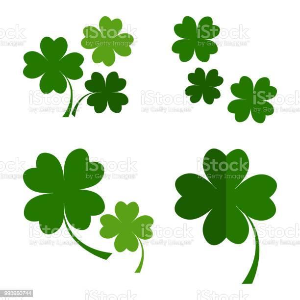 Set of green four leaves clover for saint patricks day vector vector id993960744?b=1&k=6&m=993960744&s=612x612&h=0r2hgp 0ijqjqd erzs0e1rongxdvk xni4wsmt2lrm=