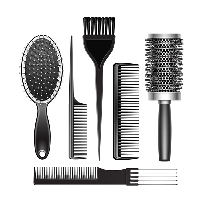 Set of Grooming and Curling Radial Hair Brush