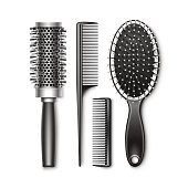 Set of Grooming and Hot Curling Radial Hair Brush