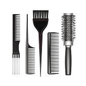 Set of Grooming Hair Brush Comb Professional Tools
