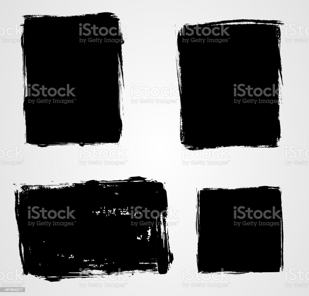 Set of grunge backgrounds vector art illustration