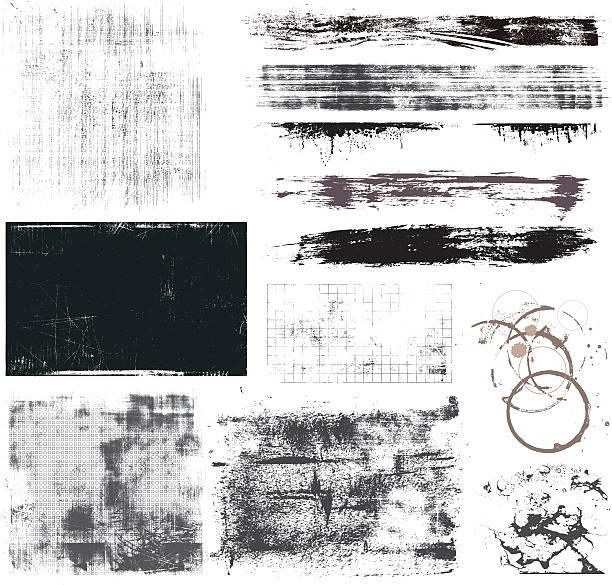 set of grunge elements - graffiti backgrounds stock illustrations, clip art, cartoons, & icons