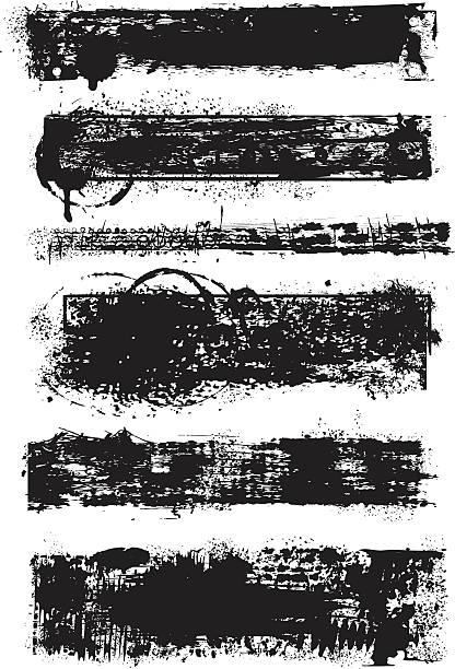 Satz von grunge Banner Unordentlich – Vektorgrafik
