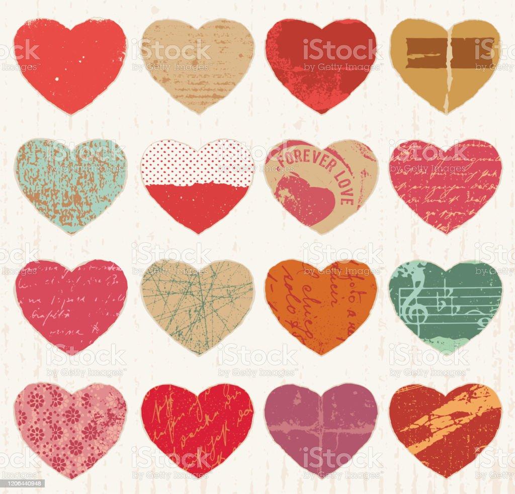 Heart grunge 2 variants Plotter file