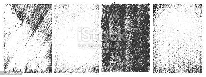Set of grunge patterns. Vector vintage illustration