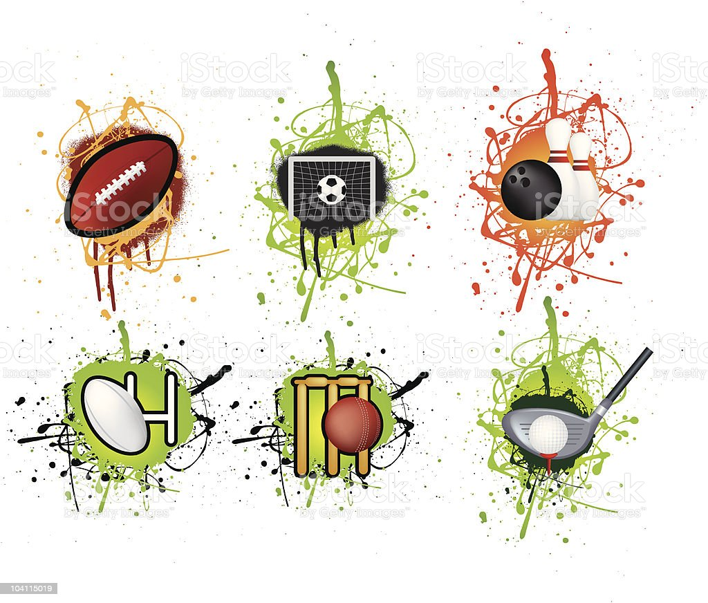 Set of grunge sports icons royalty-free stock vector art