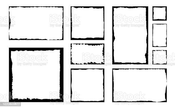 Set of grunge square frames empty border background hand draws black vector id1020600822?b=1&k=6&m=1020600822&s=612x612&h=sco2rzdrjkfvoga azqygs1 utuemvt82qhhxrg7n7s=