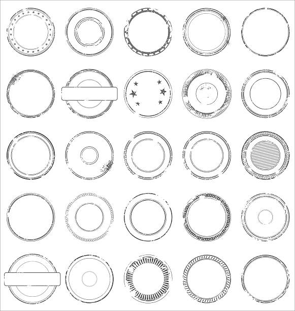 set of grunge stamp - 橡膠 幅插畫檔、美工圖案、卡通及圖標