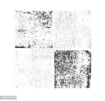 Set of grunge textures. Abstract vector template. Overlay illustration over any image to create grungy effect.