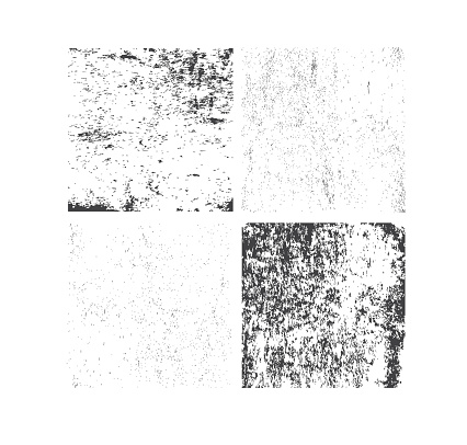 Set of grunge textures. Abstract vector template