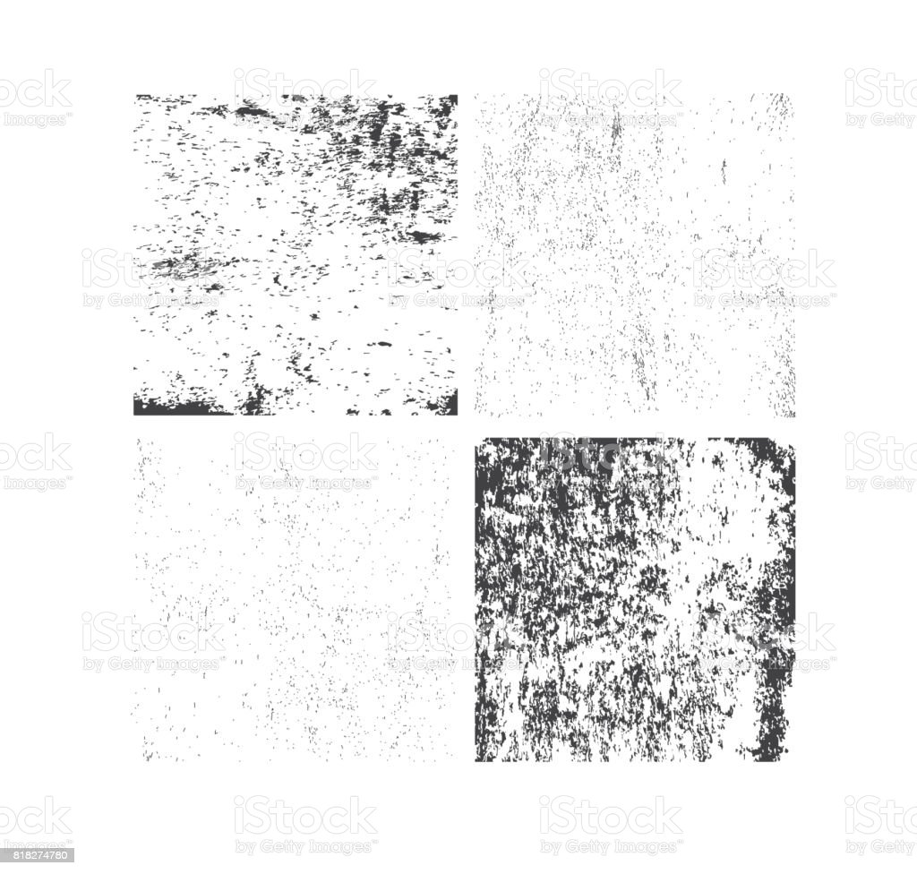 Set of grunge textures. Abstract vector template vector art illustration
