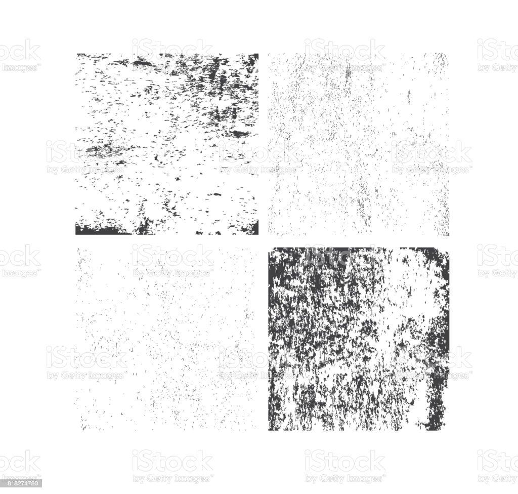 Satz von Grunge Texturen. Abstraktes Vektor Vorlage – Vektorgrafik