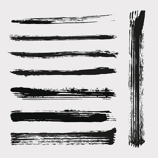 Satz von Grunge-Vektor-Bürsten – Vektorgrafik