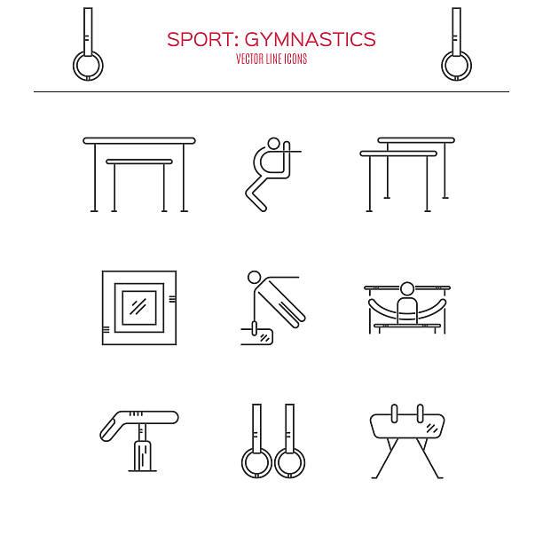 体操のアイコンを設定します。 - 体操競技点のイラスト素材/クリップアート素材/マンガ素材/アイコン素材