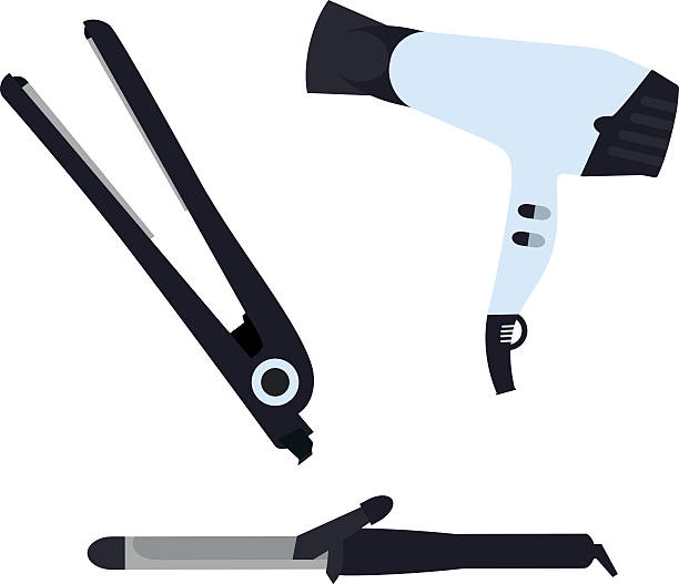 Royalty Free Curling Tongs Clip Art, Vector Images ...