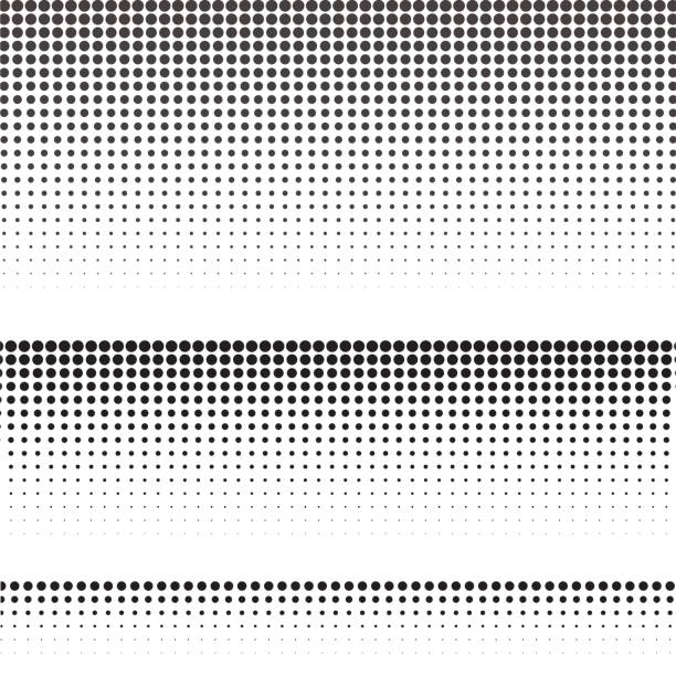 set of halftone texture for graphic design. vector illustration. - half tone stock illustrations, clip art, cartoons, & icons