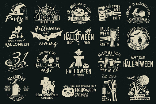 Set of Halloween celebration collection