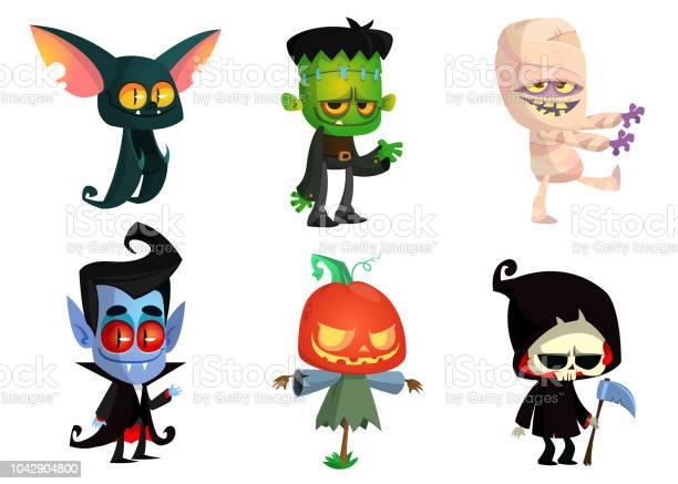 Set of halloween characters vector mummy zombie vampire bat death vector id1042904800?b=1&k=6&m=1042904800&s=612x612&h=xcesqzhm2ejrv3icejlpay1lyxsywar8xoluexurbfi=