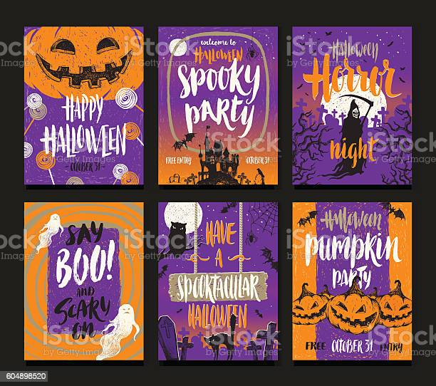 Set of halloween holidays hand drawn posters or greeting card vector id604898520?b=1&k=6&m=604898520&s=612x612&h= ue0pewyfeuoghf3t7p63me3myj8yh  wmymiw4cjfo=