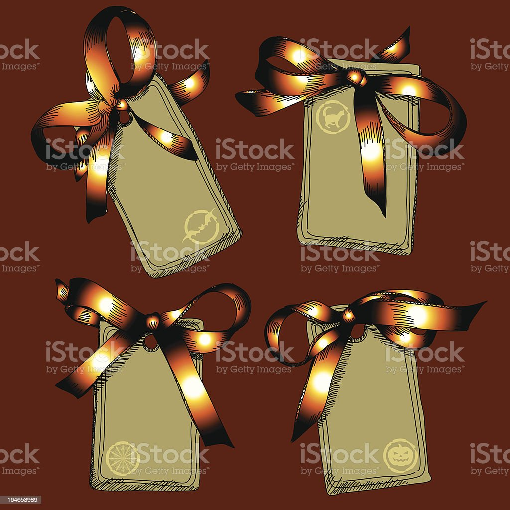 Set of Halloween tags royalty-free set of halloween tags stock vector art & more images of backgrounds