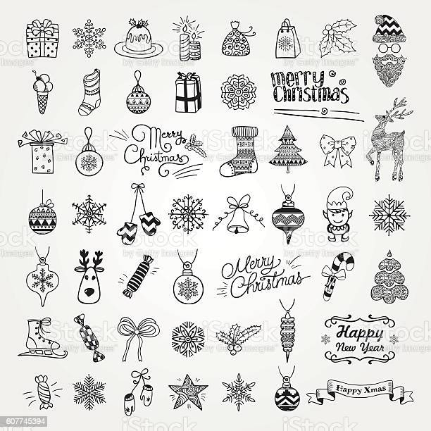 Set of hand drawn artistic christmas doodle icons vector id607745394?b=1&k=6&m=607745394&s=612x612&h=rweax4usinw rfg5ddunx6qnwnur0vtzsudz5uei ty=