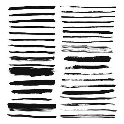手描きブラシ行数を設定しますインク ストロークと本文の区切り線 - いたずら書きのベクターアート素材や画像を多数ご用意