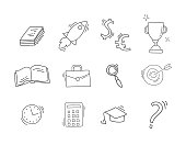 Set of Hand drawn business icons