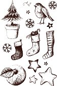 Vector file of hand drawn design elements