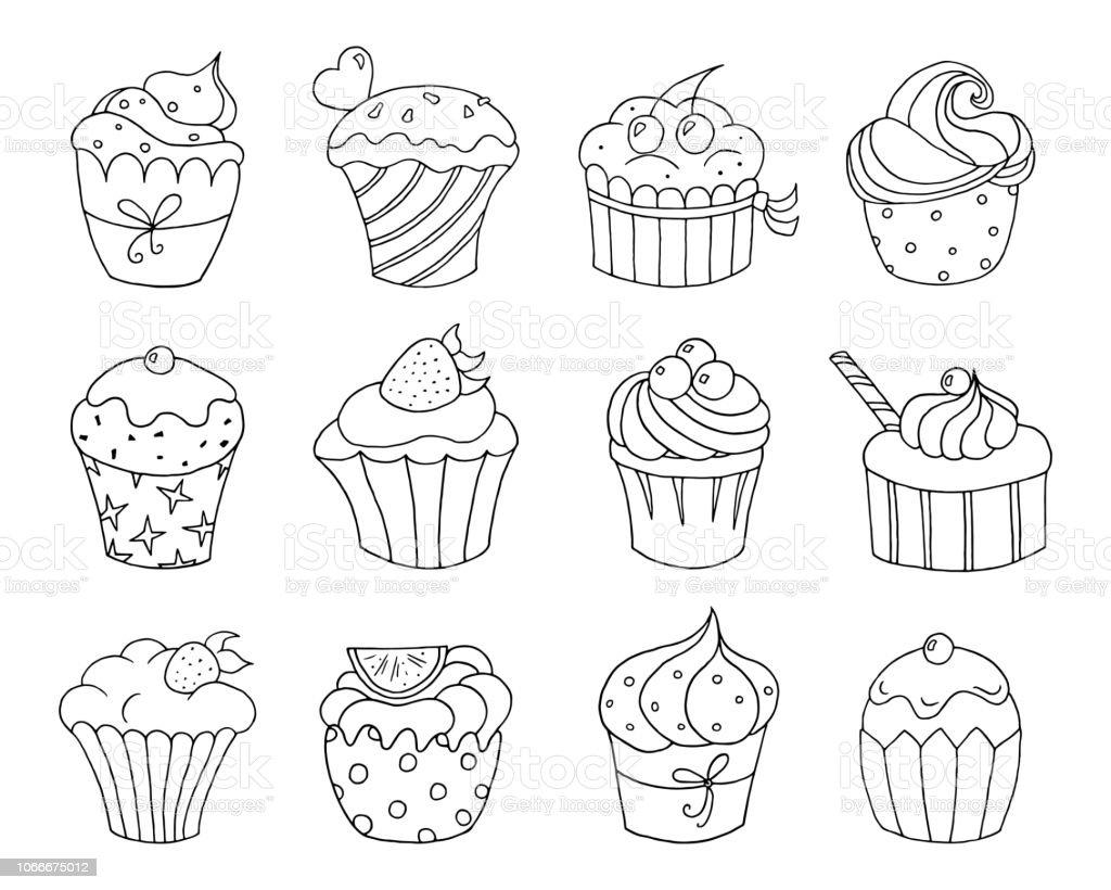 cupcake zum ausmalen  malvorlagen gratis