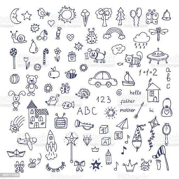 Set of hand drawn cute doodles doodle children drawing vector id505214008?b=1&k=6&m=505214008&s=612x612&h=h7iojidnh udfrztwptohsv5z4ns l7ola4g5j8nyhy=