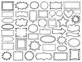 istock Set of hand drawn frames 1270813972