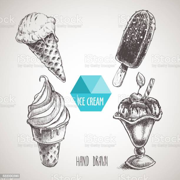 Set of hand drawn sketch style ice cream vector id533330390?b=1&k=6&m=533330390&s=612x612&h=sns63mbkt8cpaxbp0t5kmqzavxvxnx4gztif3qk5rlo=
