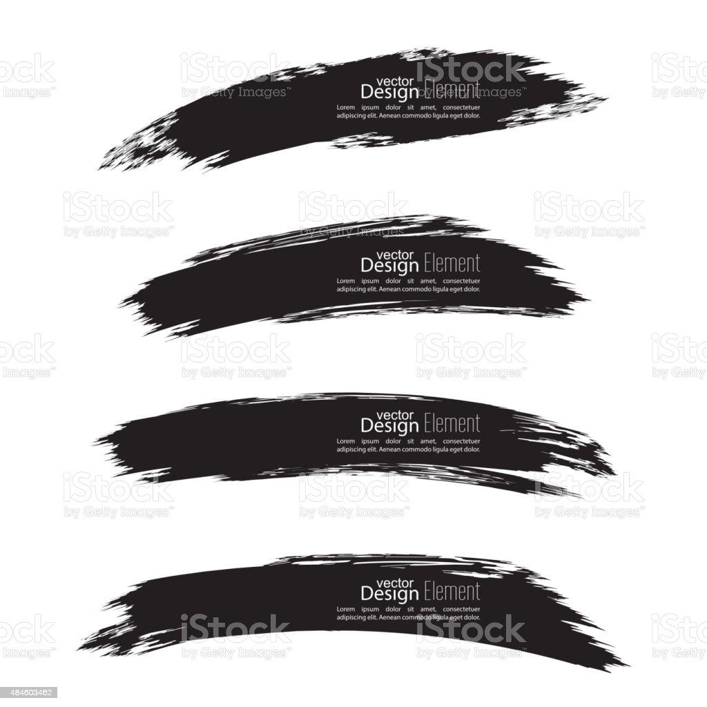 Set of hand drawn smears vector art illustration