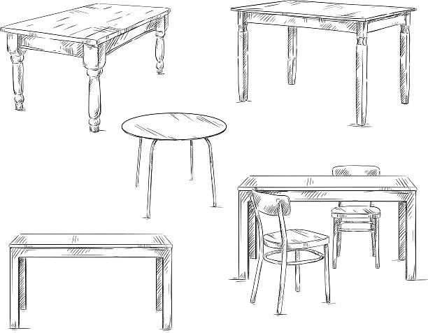 の手描きのテーブル、ベクトルイラスト - テーブル点のイラスト素材/クリップアート素材/マンガ素材/アイコン素材