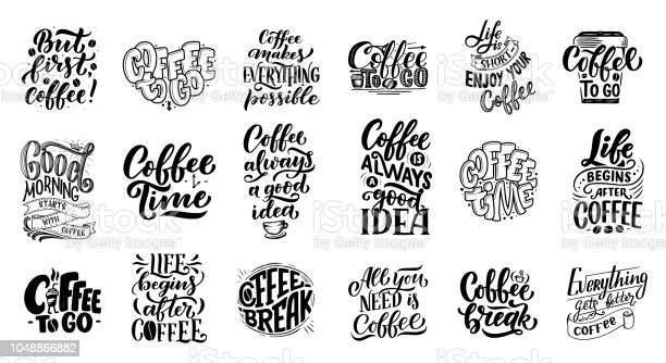 Set of hand lettering quotes with sketches for coffee shop or cafe vector id1048866882?b=1&k=6&m=1048866882&s=612x612&h=sa7n657wx m mkvpwau4ugabquqej5uopvd5b5i5sp4=
