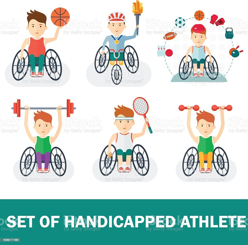set of handicapped athlete – Vektorgrafik
