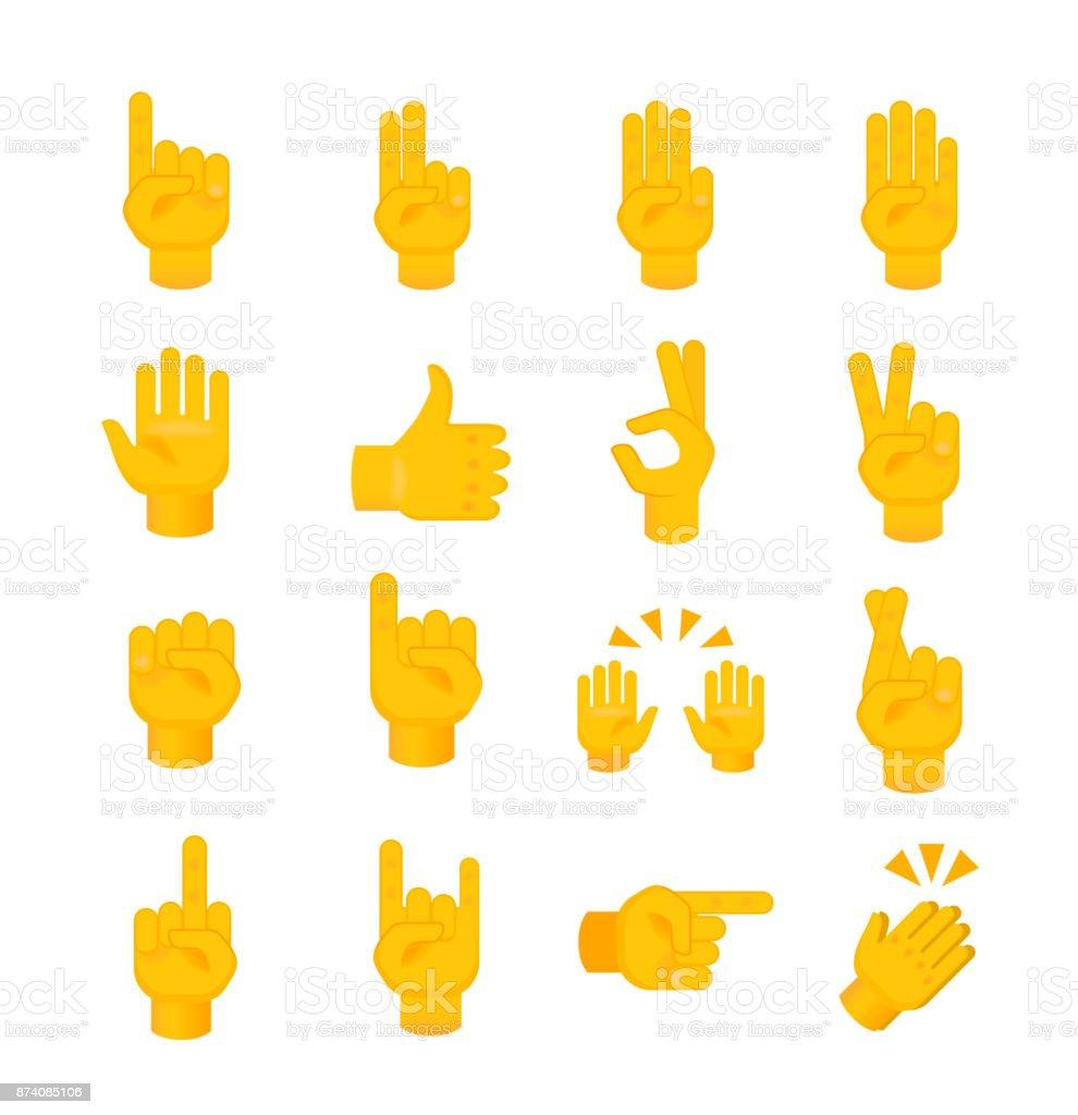 Jeux de mains sur fond blanc - Illustration vectorielle