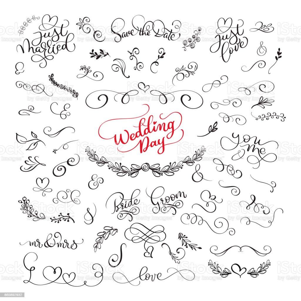 手書き書道愛について肯定的な引用をレタリングし結婚式とバレンタイン