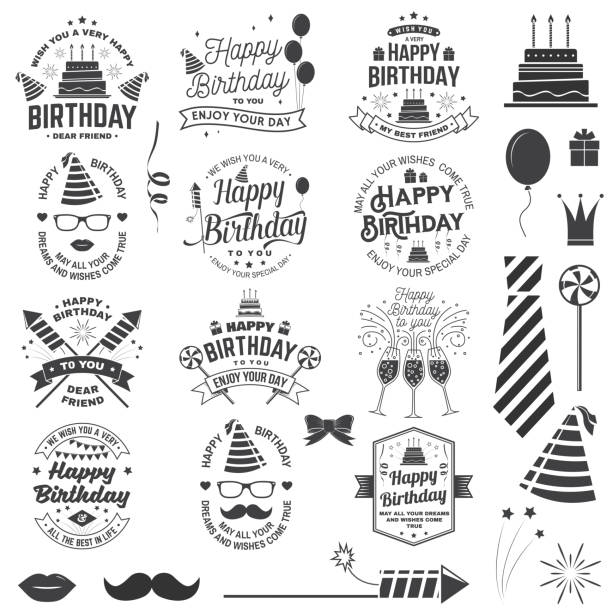 Happy Birthday Stickers Free Brushes 554 Free Downloads