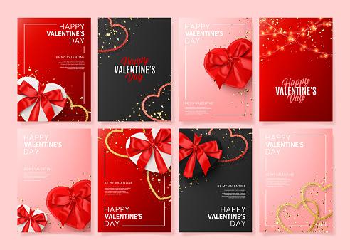 Set of Happy Valentine's Day posters