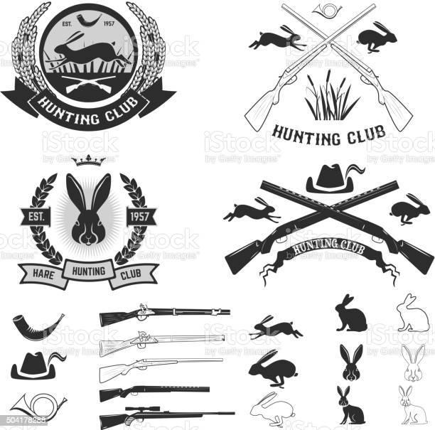 Set of hare hunting club labels vector id504178288?b=1&k=6&m=504178288&s=612x612&h=xtwg05rvpa3rmd66izzefkju1kgmatsfoc8qur5vkrw=