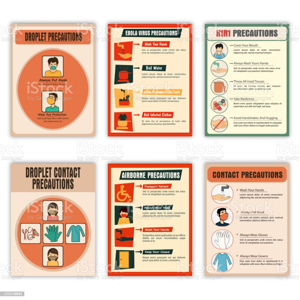 Set of Health and Medical Flyers. vector art illustration