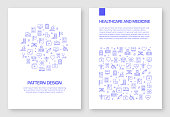 Set of Healthcare and Medical Icons Vector Pattern Design for Brochure,Annual Report,Book Cover.