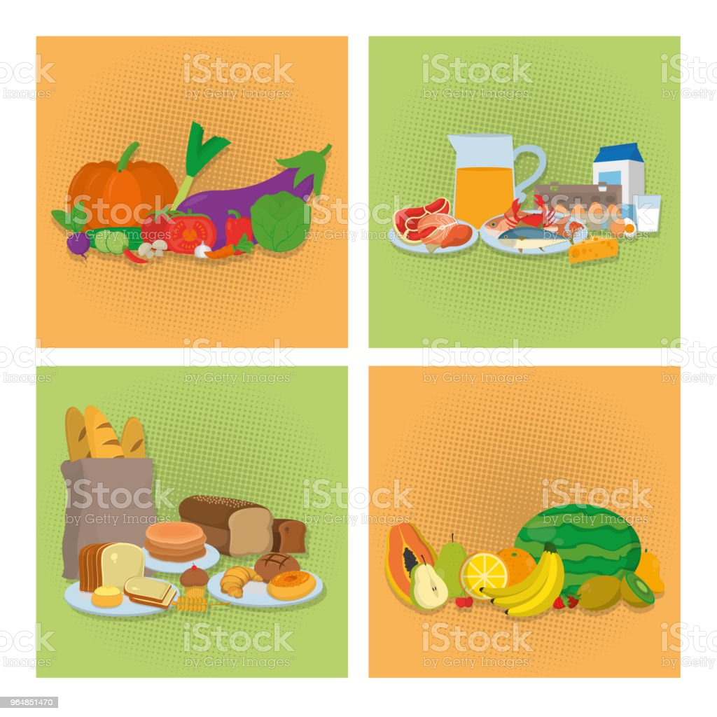 Set of healthy food icons royalty-free set of healthy food icons stock vector art & more images of banana