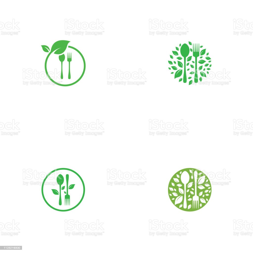 Set Of Healthy Food Logo Template Vector Design Stock Illustration Download Image Now