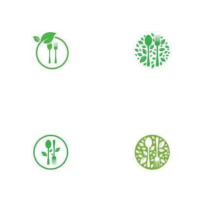 Set of healthy food logo template vector design