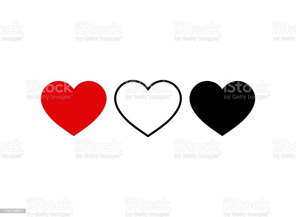 Set of heart icon. Live stream video, chat, likes. Social media icon heart shape.Thumbs up for social media.vector eps10 - Royalty-free Amor arte vetorial